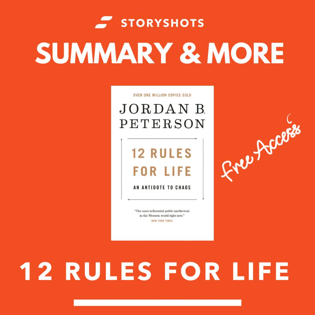 12 rules for life free summary, ebook, audiobook and animated summary on StoryShots