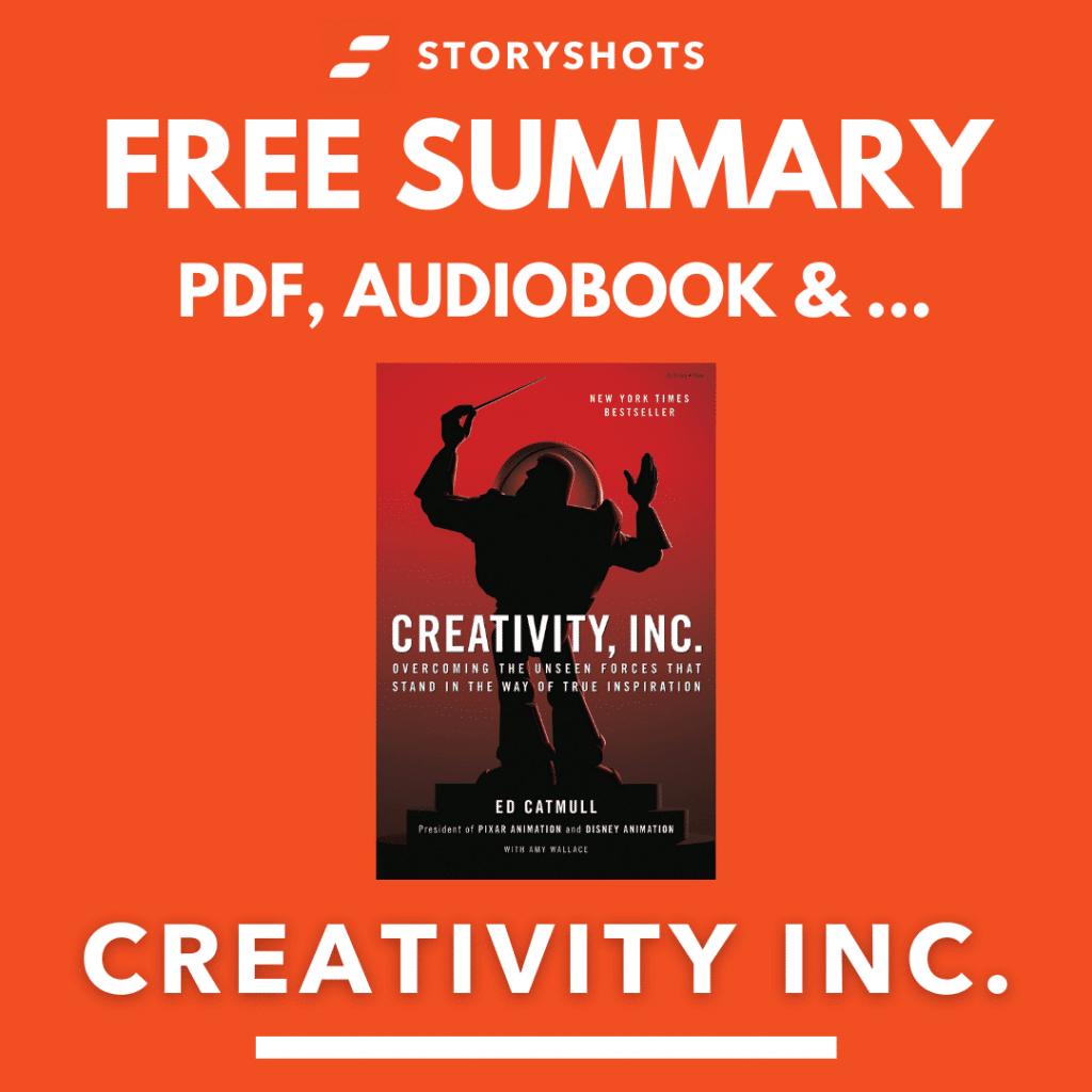 Creativity Inc. Free Book Review Summary Audiobook Animated Book Summary PDF Epub on StoryShots