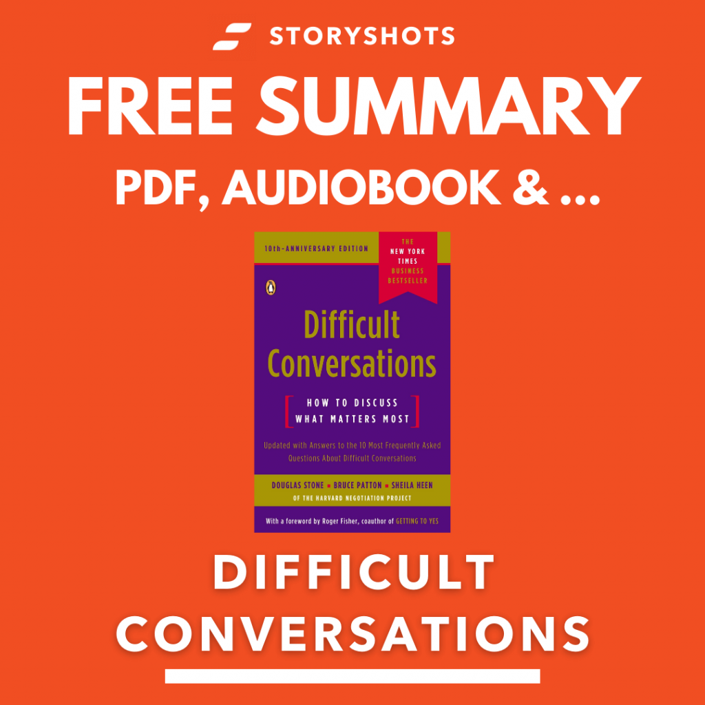 Difficult Conversations Book Summary, Free Audiobook Animated Book Summary PDF Epub on StoryShots