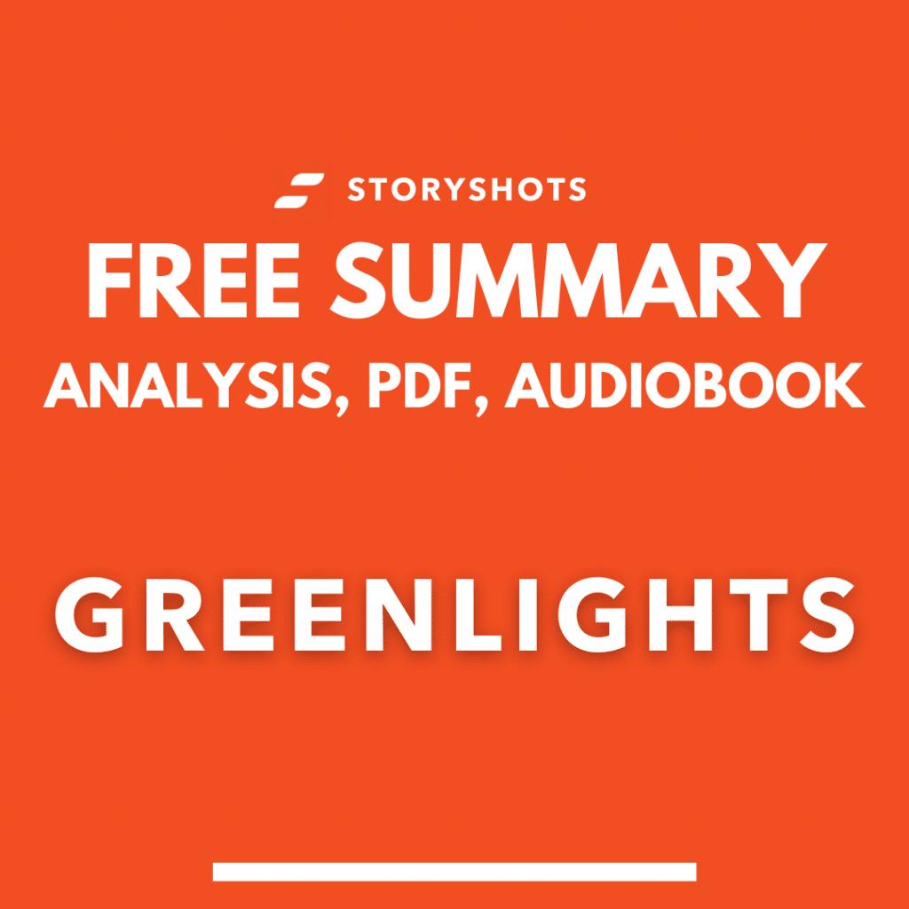 Greenlights summary by Matthew McConaughey PDF Free Audio Book