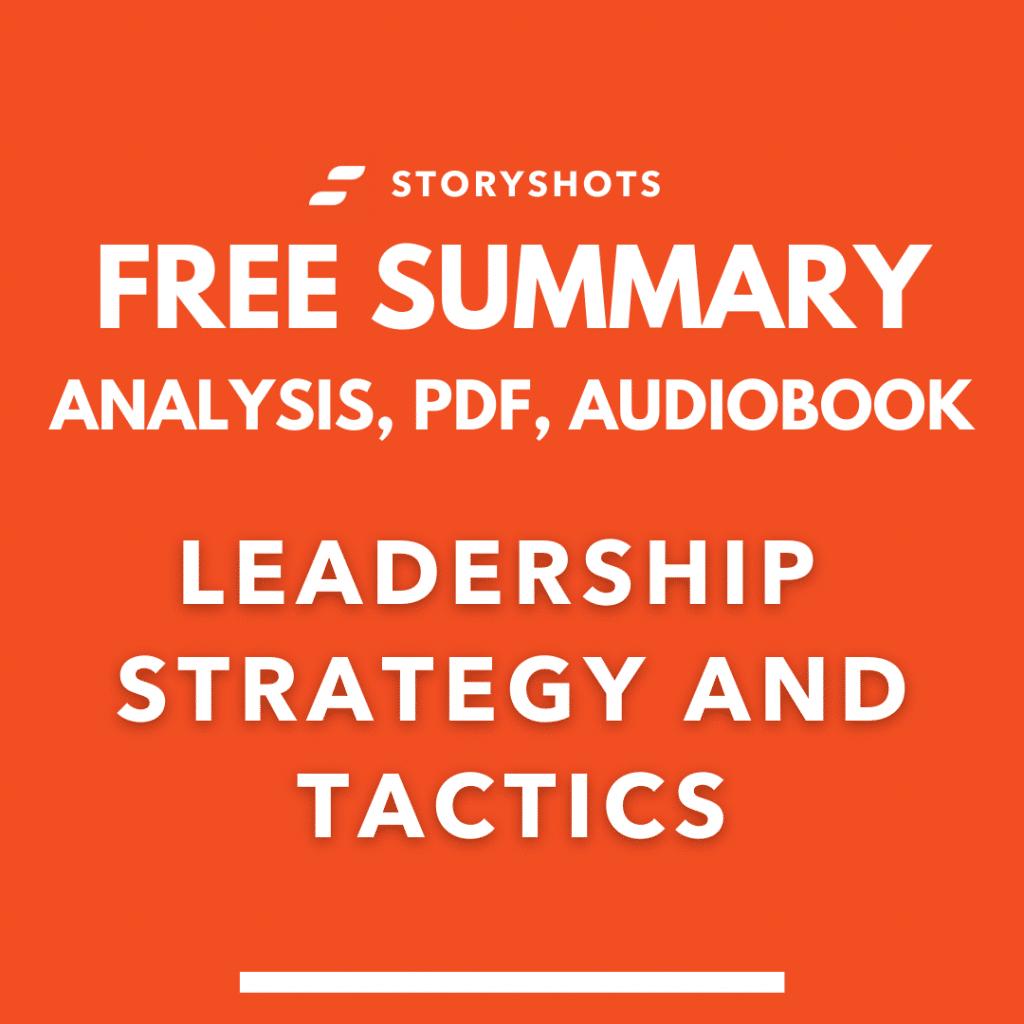 Leadership Strategy and Tactics summary Jocko Williink free audiobook, animated summary book review on StoryShots