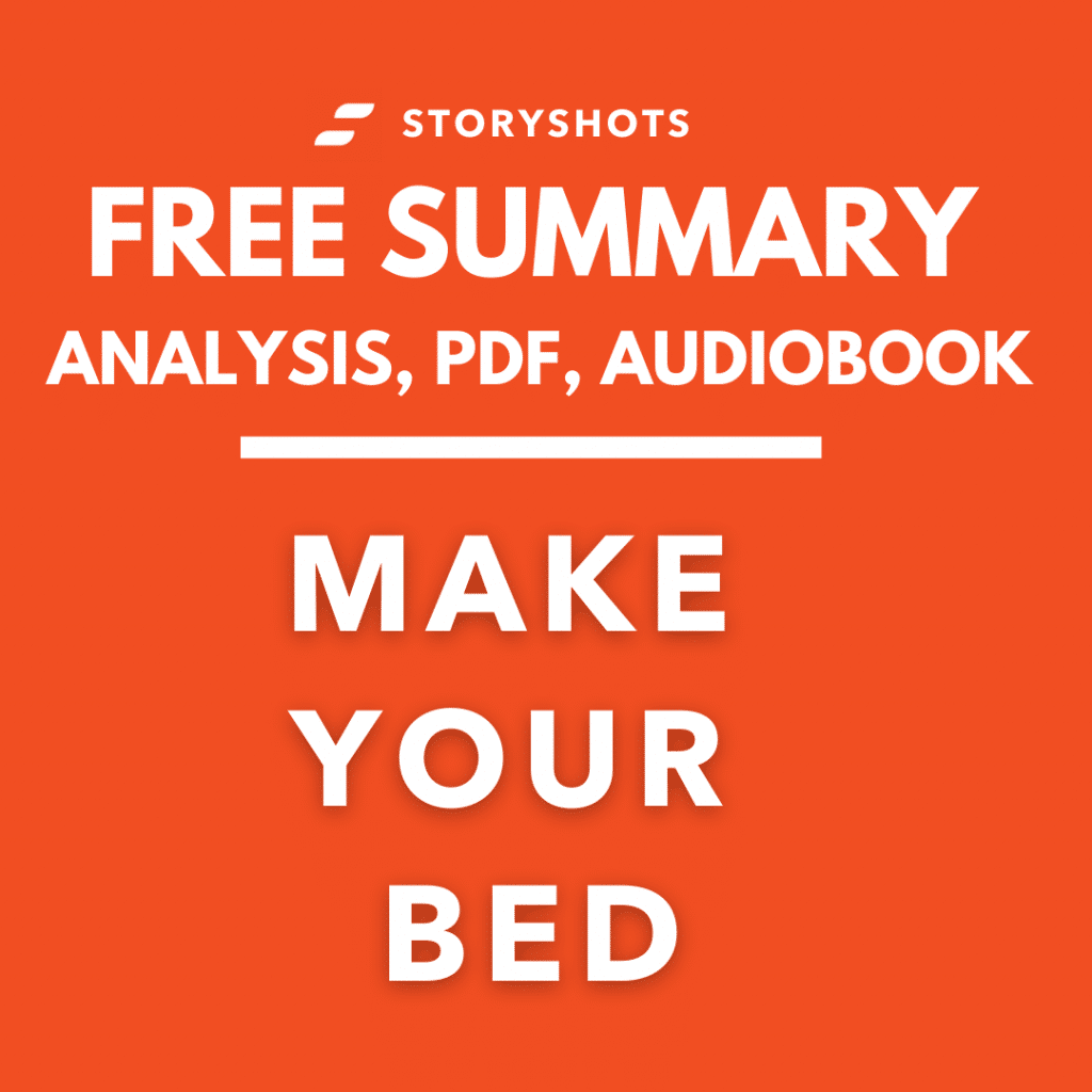 Make Your Bed Summary PDF Book Review on StoryShots