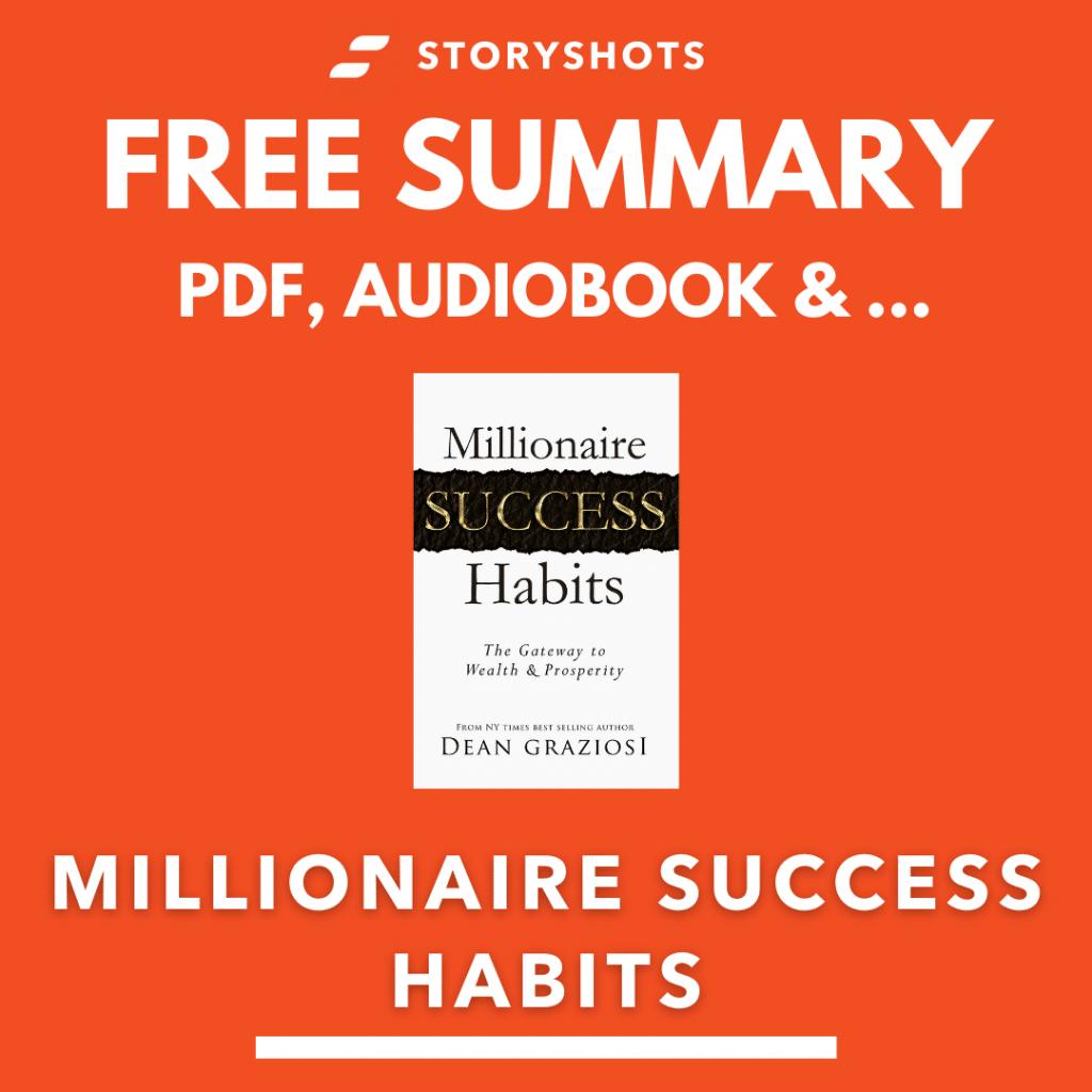 Millionaire Success Habits PDF Chapter Summary by Dean Graziosi