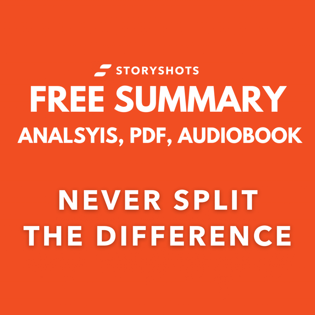 never split the difference summary, pdf free audiobook analysis on StoryShots