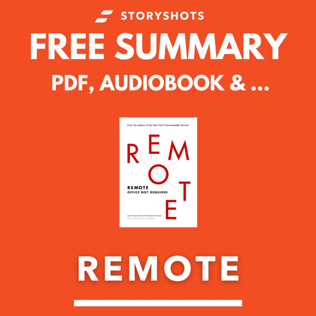 Remote Summary on StoryShots