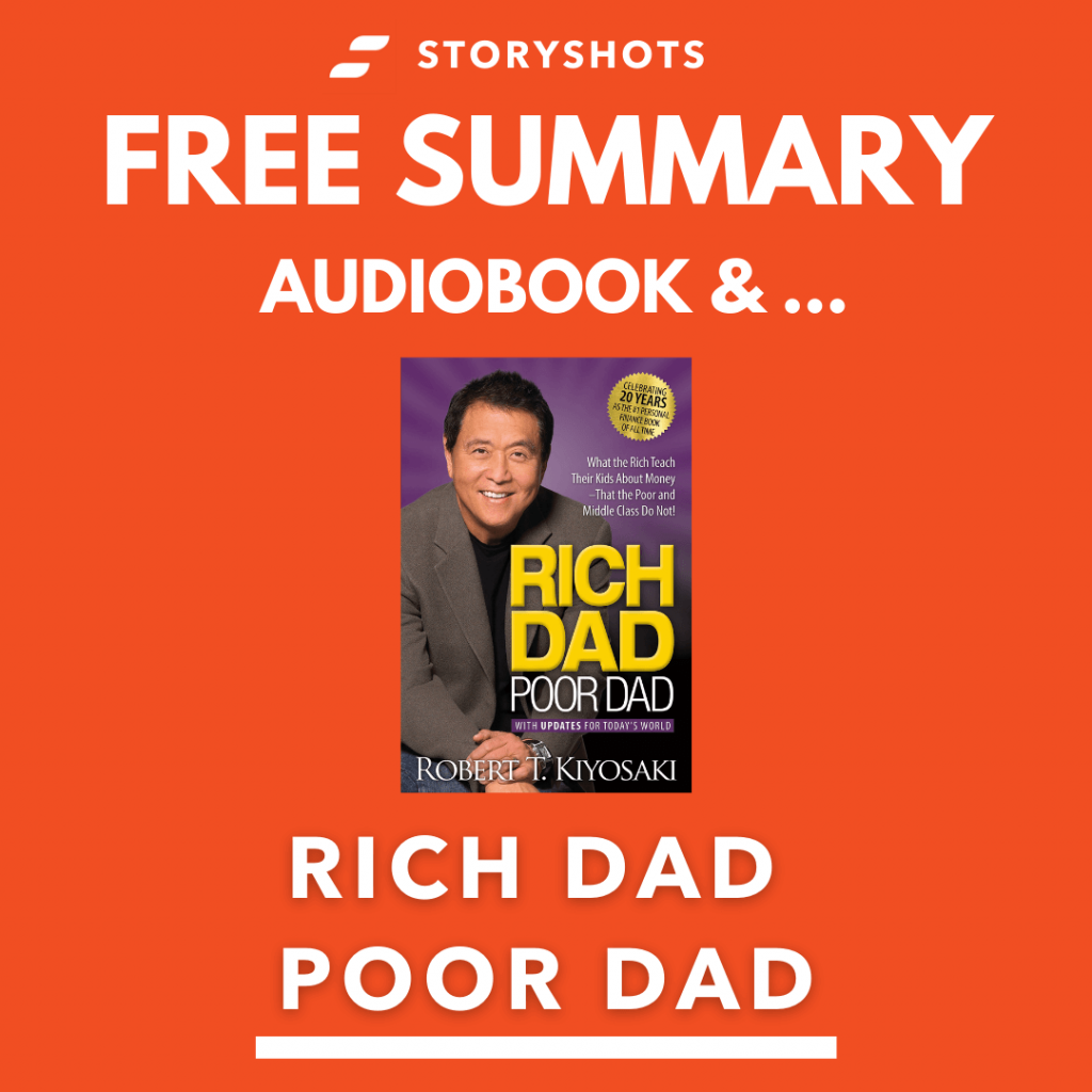 Rich Dad Poor Dad by Robert Kiyosaki Free Book Review Summary Audiobook Animated Book Summary PDF Epub on StoryShots