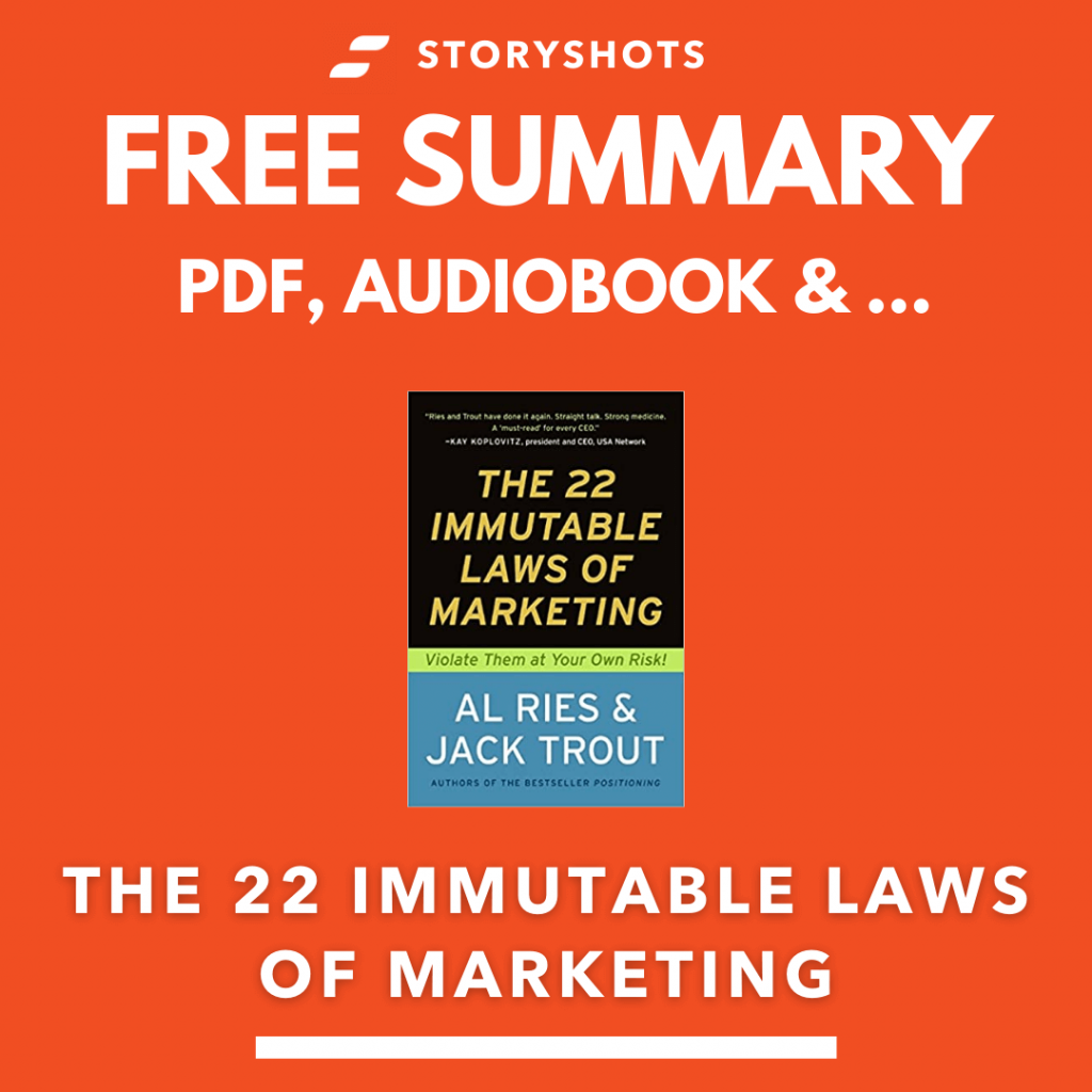 The 22 Immutable Laws of Marketing Free Book Review Summary Audiobook Animated Book Summary PDF Epub on StoryShots