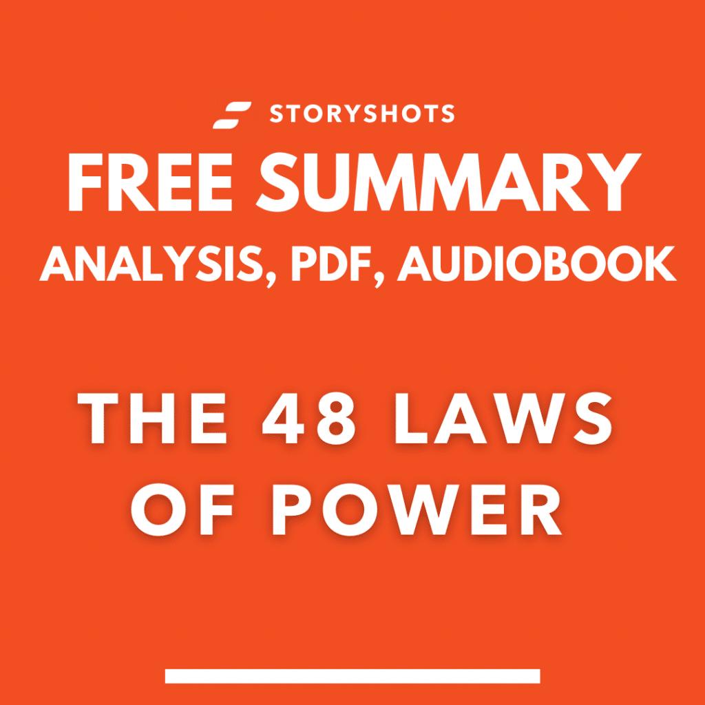The 48 Laws of Power Summary Analysis Robert Green PDF Free Audiobook storyshots