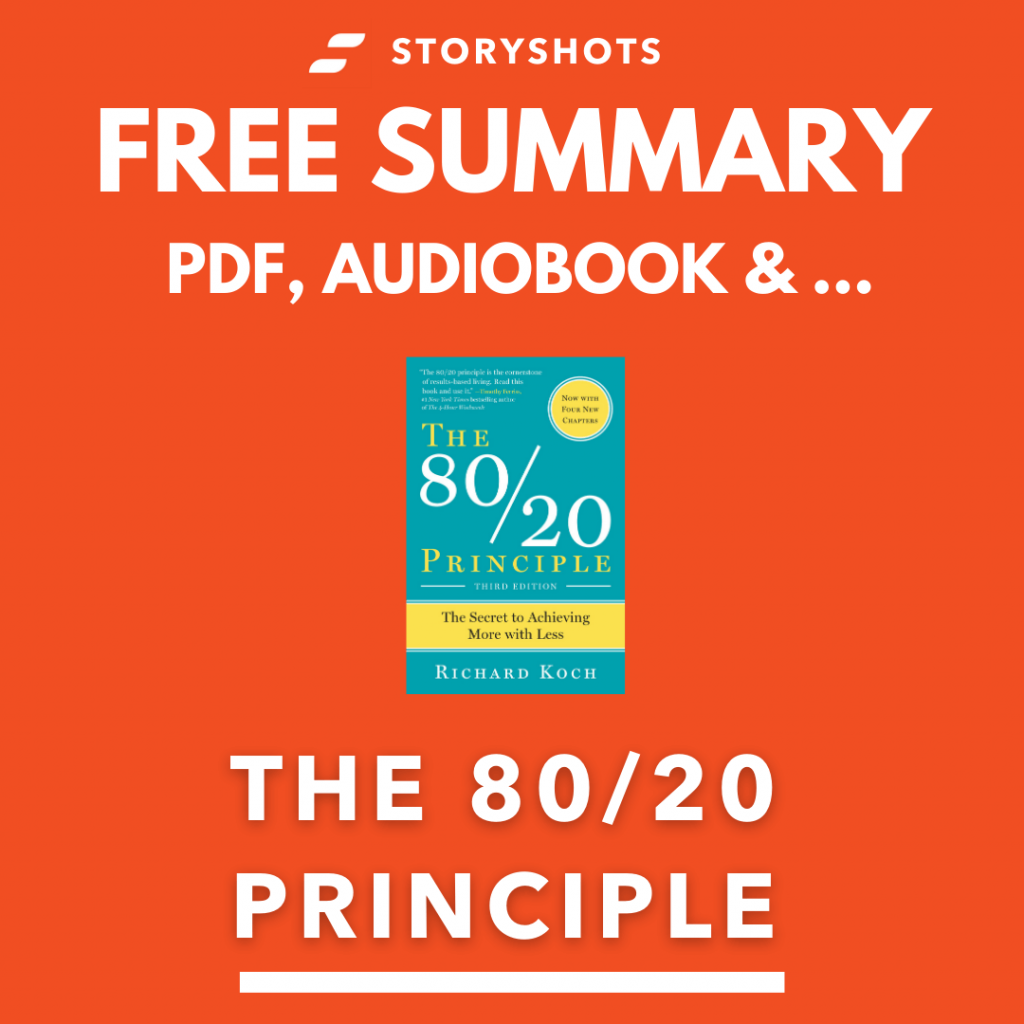 The 80/20 Principle Free Book Review Summary Audiobook Animated Book Summary PDF Epub on StoryShots