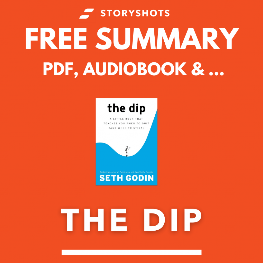 The Dip Free Book Review Summary Audiobook Animated Book Summary PDF Epub on StoryShots
