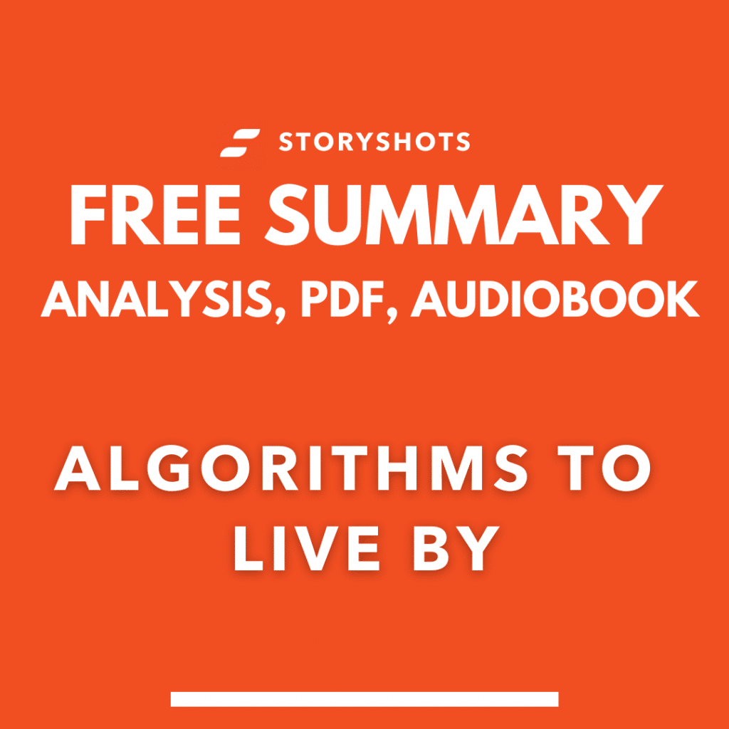 alogrithms to live by summary pdf storyshots Brian Christian free audiobook analysis
