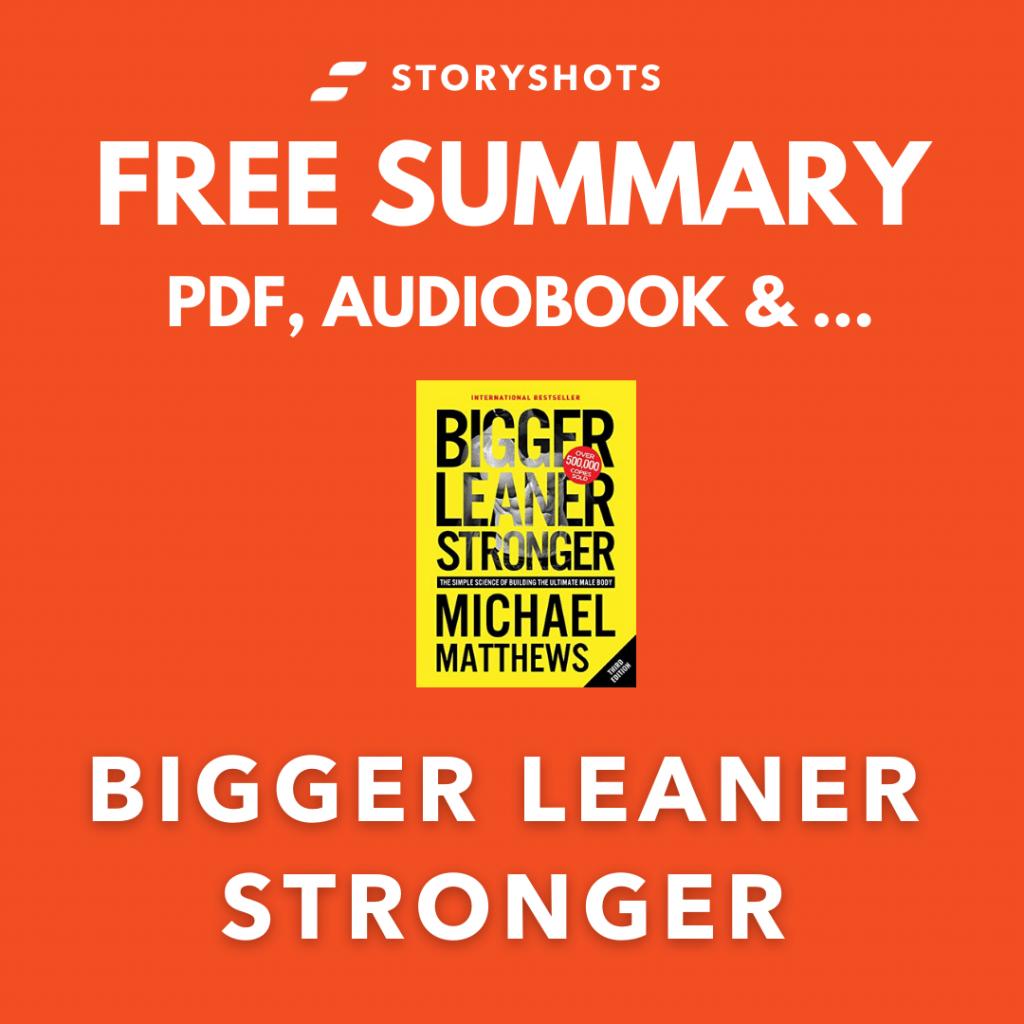 Bigger Leaner Stronger PDF Summary Audio Book Michael Matthews