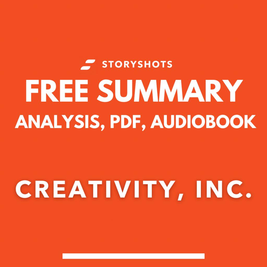 Creativity Inc. Summary PDF free Audiobook Animated Book Summary  Epub on StoryShots