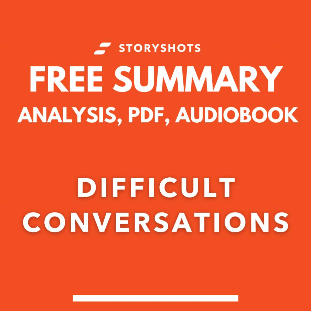 Difficult Conversations Summary pdf Free Audiobook analaysis on StoryShots