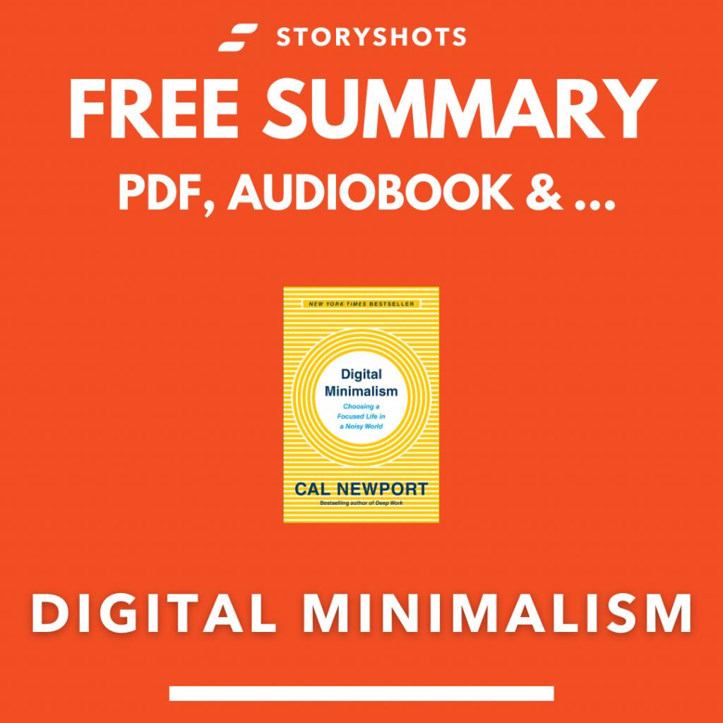 digital minimalism summary pdf free audio book Cal Newport