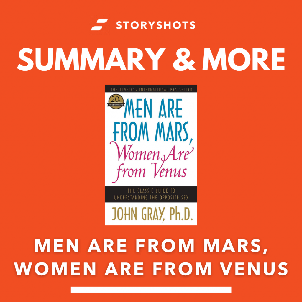 Men Are from Mars, Women are From Venu by John Gray free book summary, audiobook, epub and animated summary