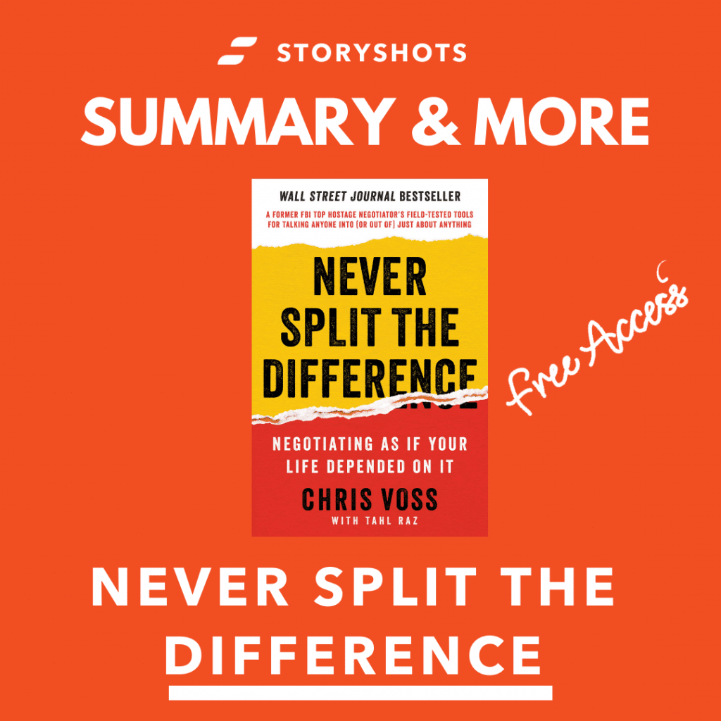 never split the difference free summary, pdf, audiobook on StoryShots