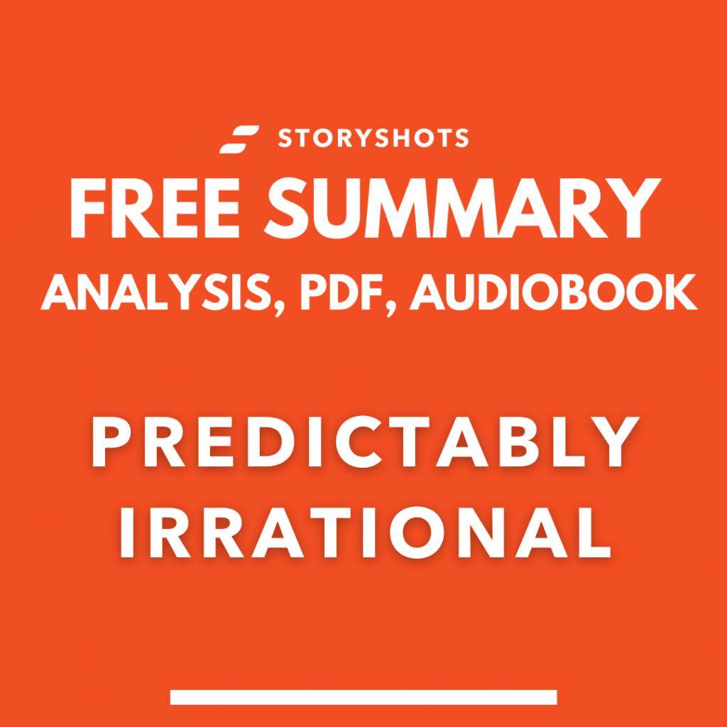 Predictably irrational summary pdf dan ariely free audiobook storyshots analysis