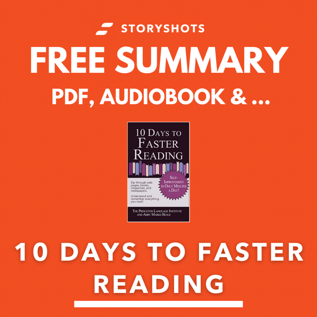 ten days to faster reading summary pdf audio book