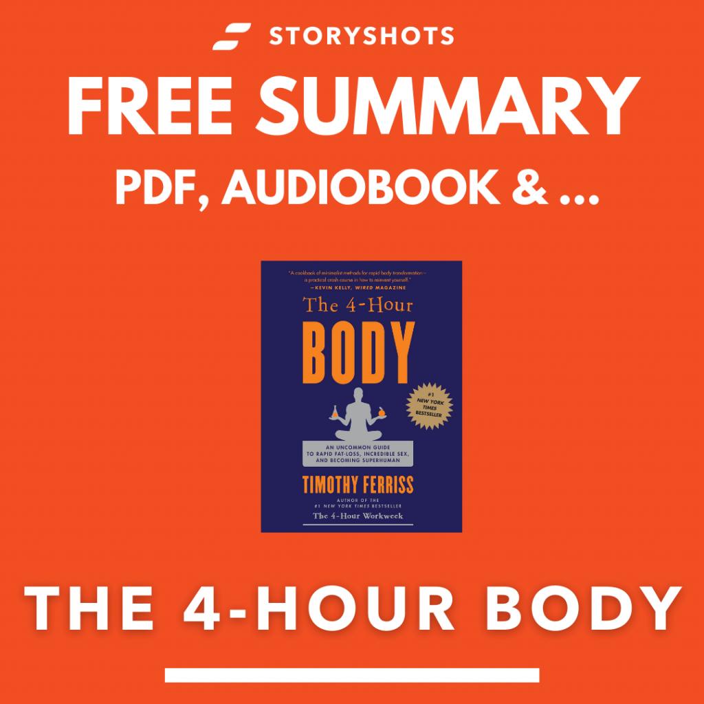 The four hour Body Summary PDF Audiobook Animated Book Analysis  Epub on StoryShots