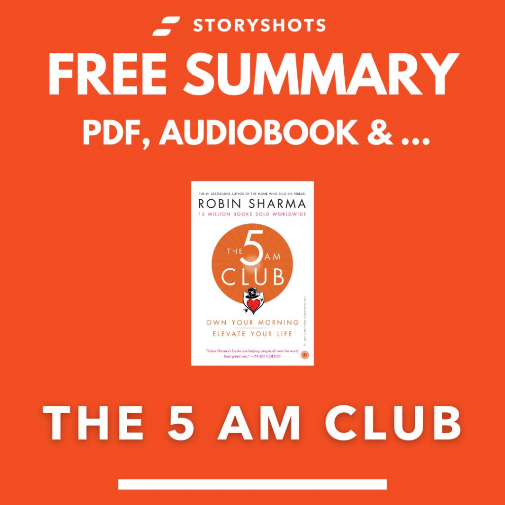 The 5 AM Club PDF Summary Free Audiobook by Robin Sharma