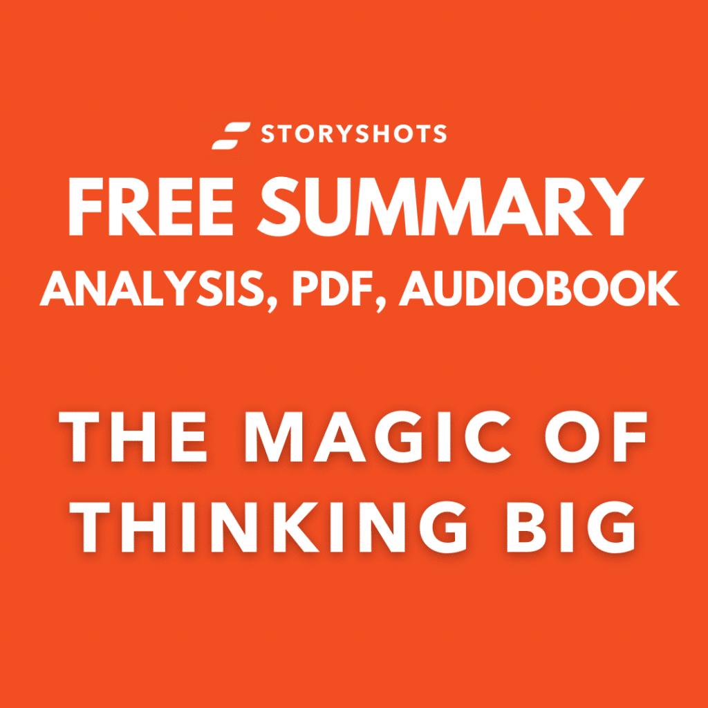 The Magic of Thinking Big PDF Summary review free audiobook storyshots