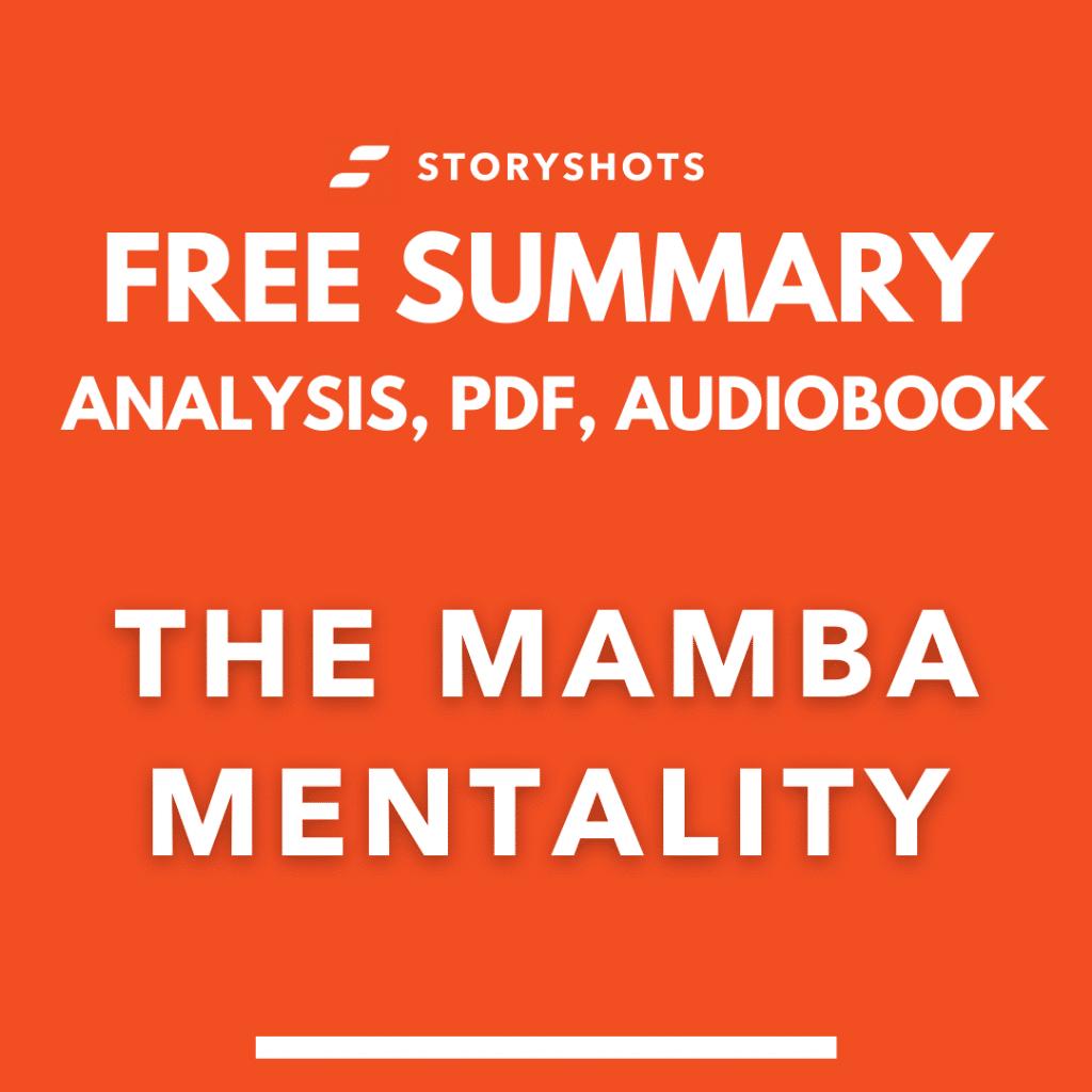the mamba mentality summary pdf kobe bryant free audiobook book review analysis storyshots
