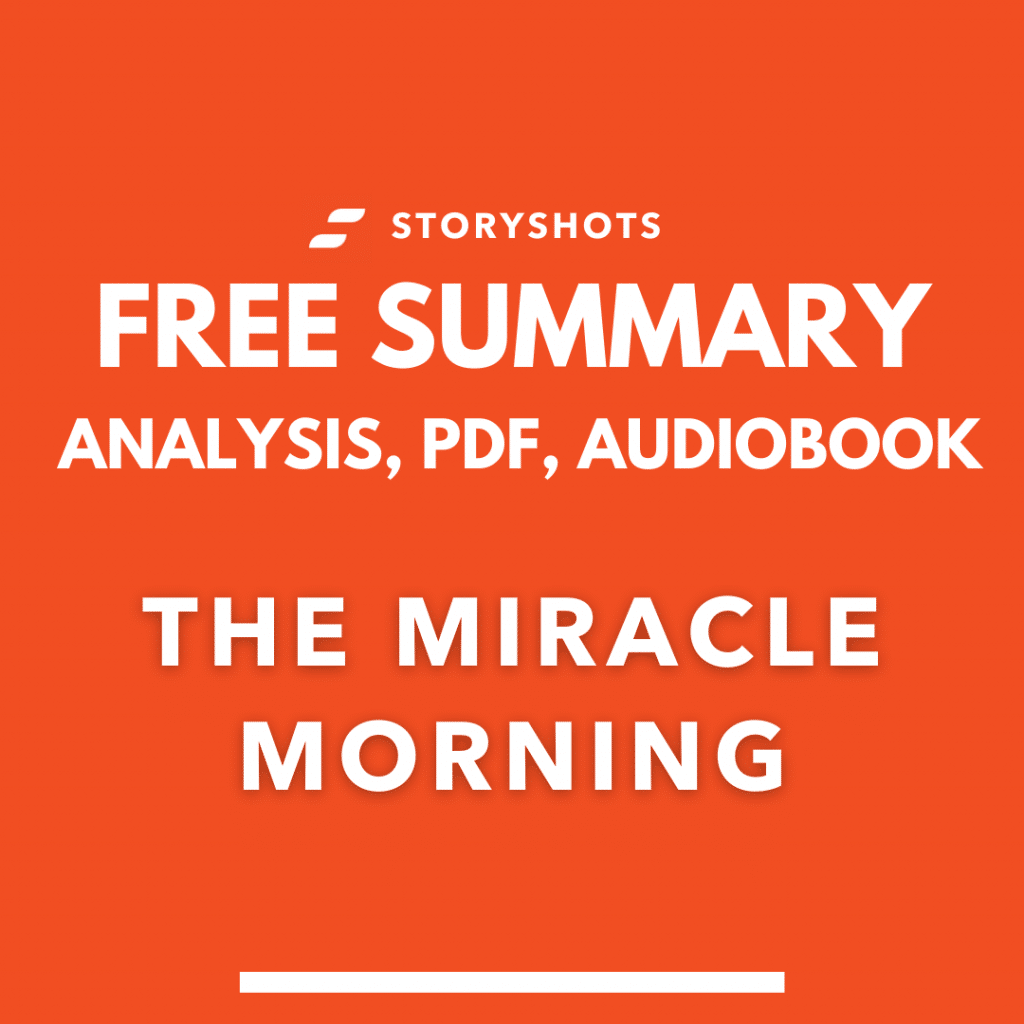 The Miracle Morning by Hal Elrod summary, free audiobook, ebook and animated summary on storyshots