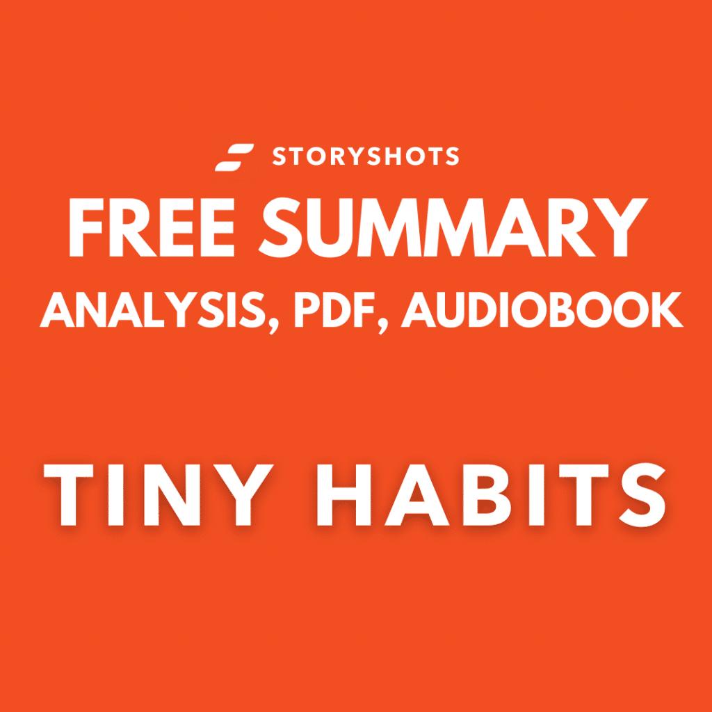 tiny habits pdf summary review fre audiobook bj fogg storyshots